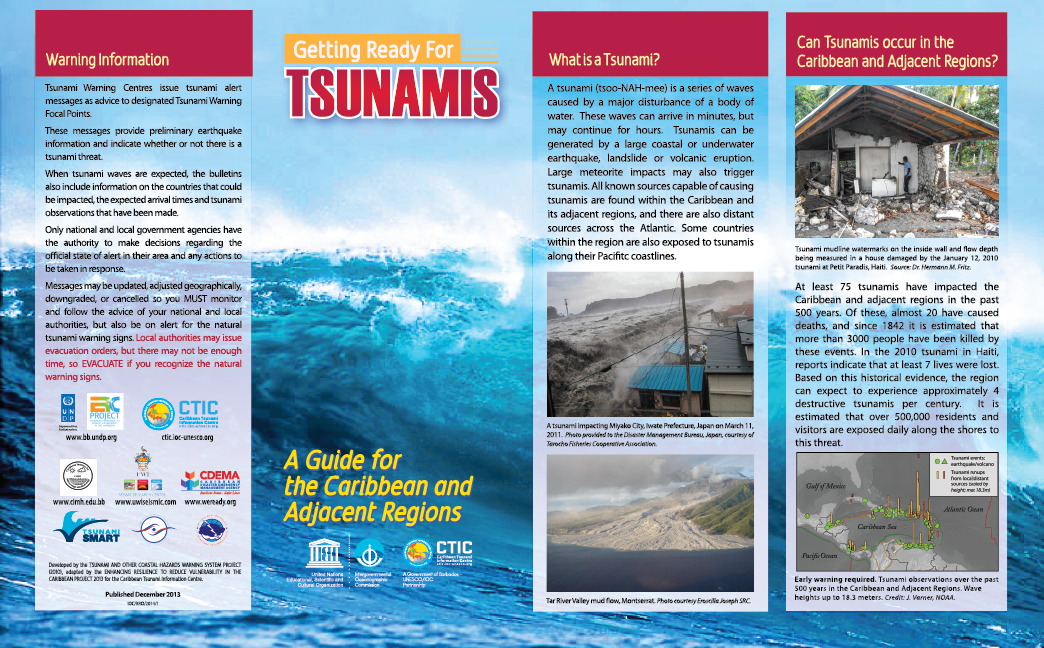 Getting Ready for Tsunamis Brochure (English)