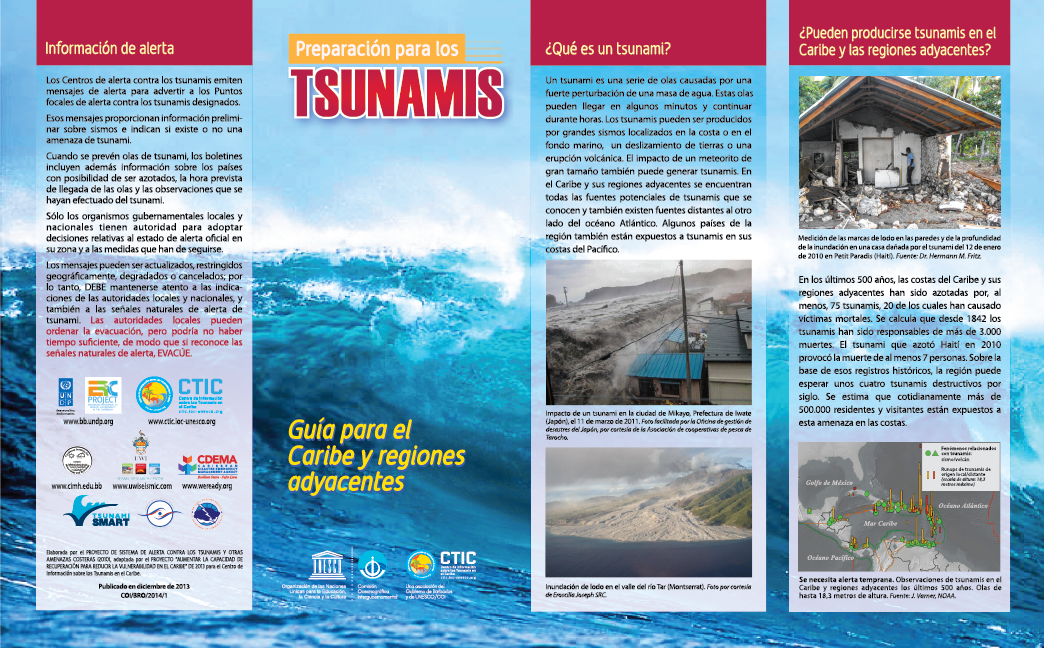 Getting Ready for Tsunamis Brochure (Spanish)