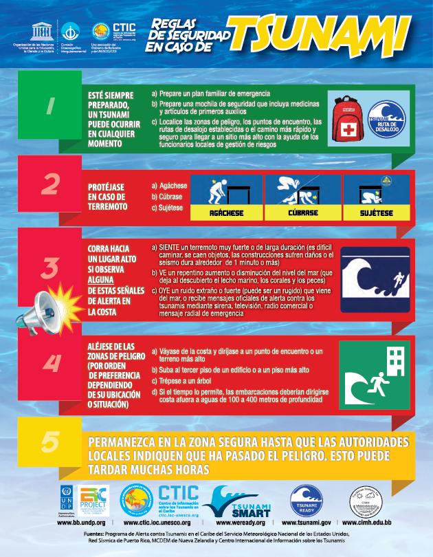 Tsunami Safety Rules (Spanish)