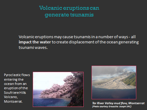 Volcanic eruptions can generate tsunamis